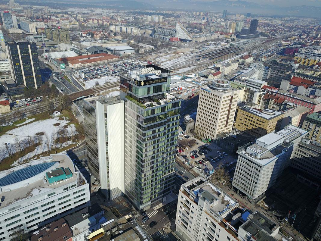 Poslovno stanovanjski objekt Intercontinental, Ljubljana