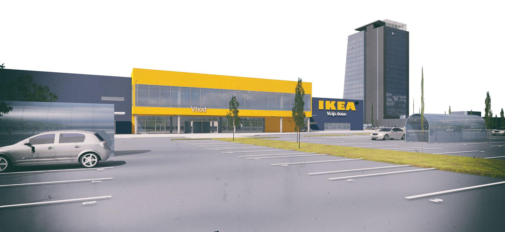 Trgovski objekt IKEA, Ljubljana