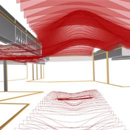Optimizacija geometrije stropnih lamel trgovskega centra Vič in podpora odločanju