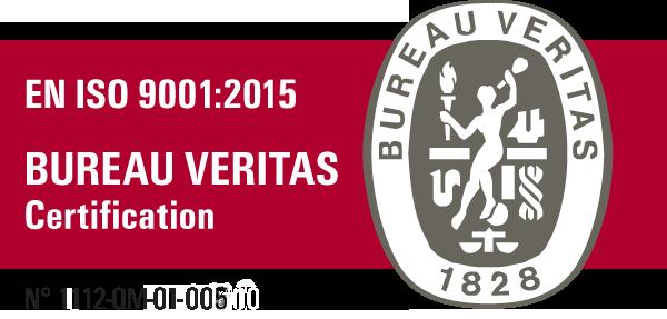 EN ISO 9001:2015 Certificate