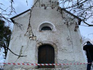 Poškodbe na cerkvi sv. Jakoba, Mali Vrh